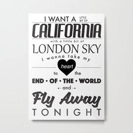 Fly Away - White Metal Print