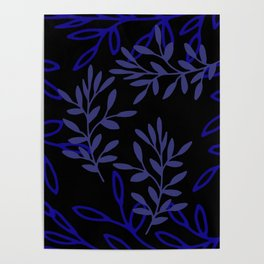 Leafy Blue Poster