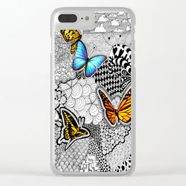 Tangled Butterfly Clear iPhone Case