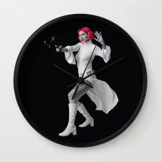 Princess Leia Strikes Back Wall Clock