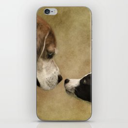 Nose To Nose Dogs iPhone Skin