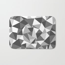 Abstraction Black and White Bath Mat