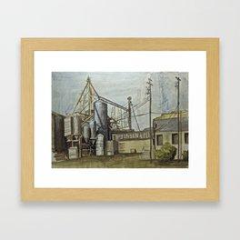 Industrial Fresno Framed Art Print