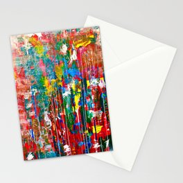 Abstract Paint Drips Stationery Cards