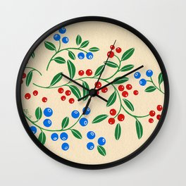 Forest berries Wall Clock