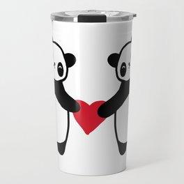 Panda Love  panda bear in love Travel Mug