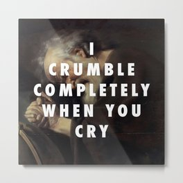 Crying Heraclitus Metal Print