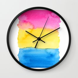Pansexual Flag Wall Clock