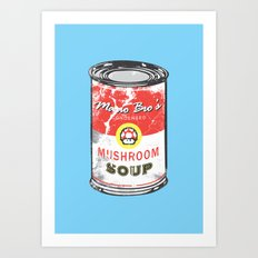 Mario Bro's Mushroom soup Art Print