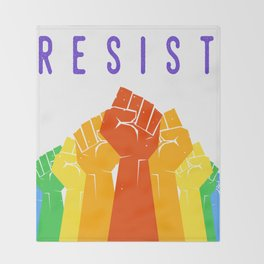 Resist (Pride) Throw Blanket