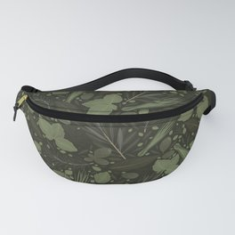 Green Herbs Spices / Olive Green Palette Fanny Pack
