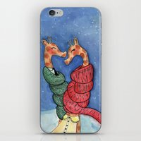giraffes iPhone & iPod Skins featuring giraffes by knutsie