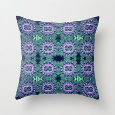 Purple & Teal Lace Throw Pillow