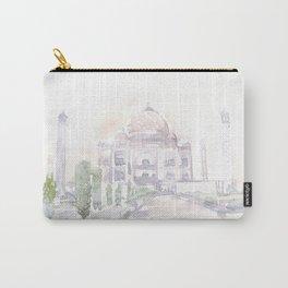 Watercolor landscape illustration_India - Taj Mahal Carry-All Pouch