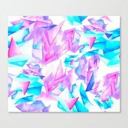 Watercolor Quartz Fragmentation Canvas Print