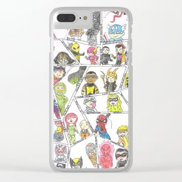 Heros and Villians Clear iPhone Case
