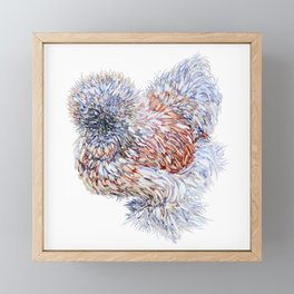 Silkie Chicken - Maple Taffy Framed Mini Art Print