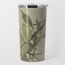 Vintage Flower and Bee Travel Mug