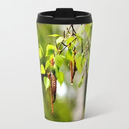 The birch leaves and catkins Travel Mug