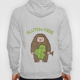 Gluten Free Cute Bigfoot Cartoon Hoody