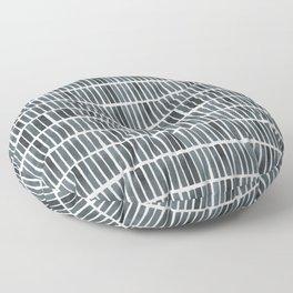 'indigo bars' - pattern Floor Pillow
