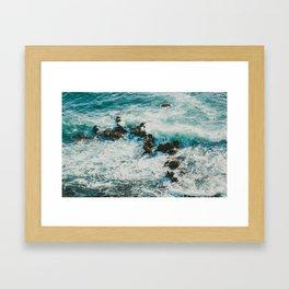 Palos Verdes Surf Framed Art Print