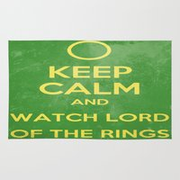 the lord of the rings Area & Throw Rugs featuring Lord of the Rings by MeMRB