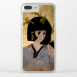 """People either love me or they hate me, or they don't really care."" Clear iPhone Case"