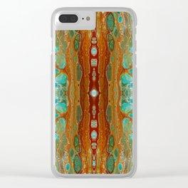 aqua 3 Clear iPhone Case