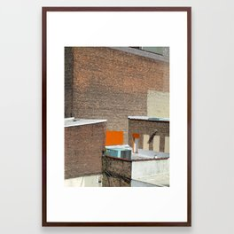 Brick and Orange Framed Art Print
