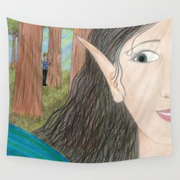 Royal Admirer Wall Tapestry