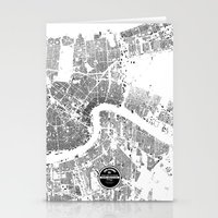 new orleans Stationery Cards featuring NEW ORLEANS by Maps Factory