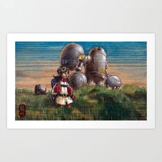 OB lookouts Art Print