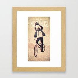 Look Ma' No Hands Framed Art Print
