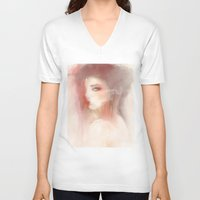 smoke V-neck T-shirts featuring Smoke by J U M P S I C K ▼▲