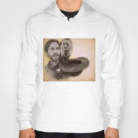jared leto Hoodies featuring Jared Leto and Ripley the monkey by Jenn