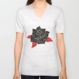 Black Roses in my garden Unisex V-Neck