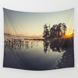 misty sunrise Wall Tapestry
