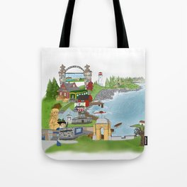 Louisbourg Illustrated in Color Tote Bag