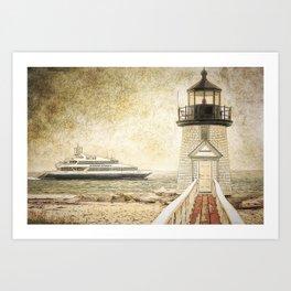 Brant Light Nantucket Art Print