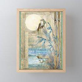 Bamboo Moon with One Framed Mini Art Print