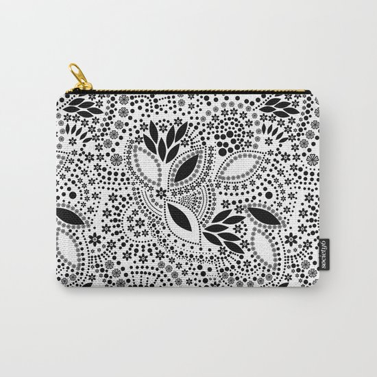 Black and white polka dot pattern . Carry-All Pouch