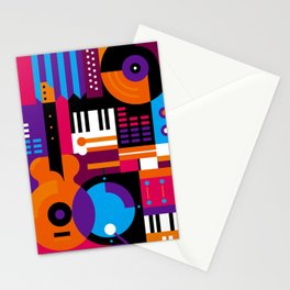 Music Mosaic Stationery Cards
