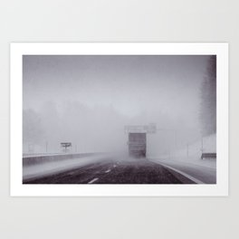 through the snow Art Print