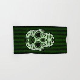 Día de los Muertos in Emerald Green Hand & Bath Towel