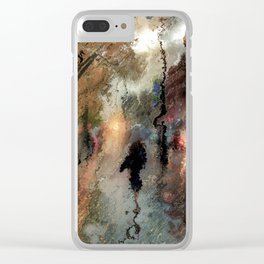 Rainy days Clear iPhone Case