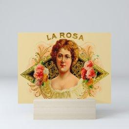 Vintage Cigar Box Art - La Rosa Mini Art Print