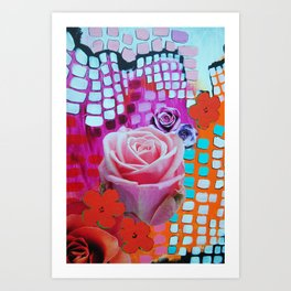 Roses Are Free Art Print