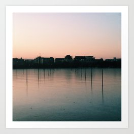 Beihai at dusk Art Print