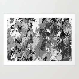 Emotion B&W Art Print